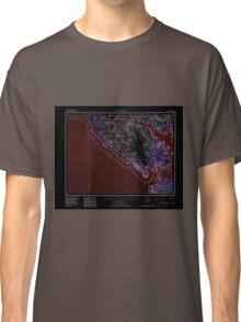USGS TOPO Map Alaska AK Mt Fairweather 361176 1961 250000 Inverted Classic T-Shirt