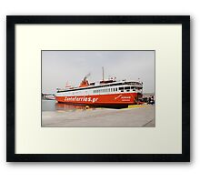 Adamantios Korais ferry, Athens Framed Print
