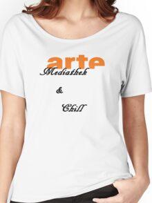 Arte Mediathek & Chill Women's Relaxed Fit T-Shirt