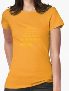 Ulysses 31 Intro Star Wars Text Womens Fitted T-Shirt