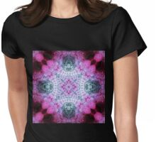 Pink Mandala - Abstract Fractal Artwork Womens Fitted T-Shirt