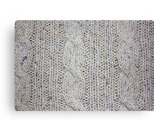 Cream Cable Knit Canvas Print