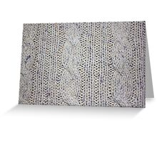 Cream Cable Knit Greeting Card
