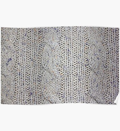 Cream Cable Knit Poster