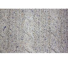 Cream Cable Knit Photographic Print