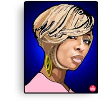 """R&B DIVAS: MARY J BLIGE"" Canvas Print"