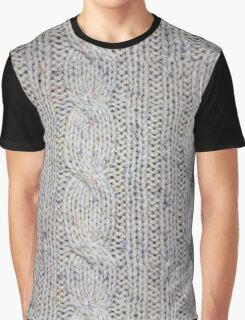 Cream Cable Knit Graphic T-Shirt