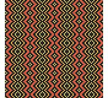 Egyptian Red Green Black Tribal Photographic Print
