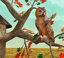 Autumn Owl by Vac1