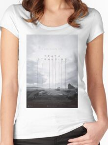 Death Stranding Poster Women's Fitted Scoop T-Shirt