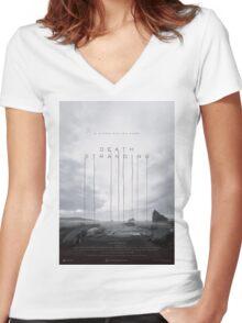 Death Stranding Poster Women's Fitted V-Neck T-Shirt