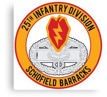 25th Infantry CFMB Canvas Print