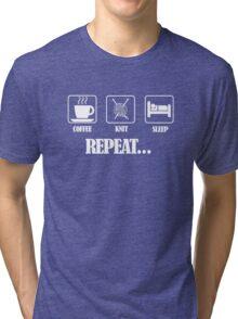 Coffee Knit Repeat Dark Tri-blend T-Shirt