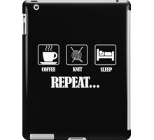 Coffee Knit Repeat Dark iPad Case/Skin