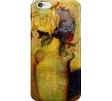 Jug with Yellow and Violet Flowers iPhone Case/Skin