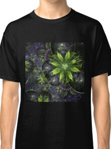 Green Floral Pattern - Abstract Fractal Artwork Classic T-Shirt