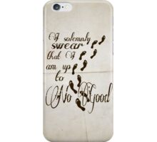 I Solomnly Swear in Paper  iPhone Case/Skin