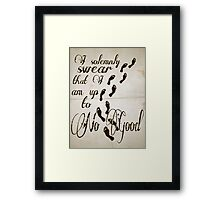 I Solomnly Swear in Paper  Framed Print