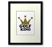 Golf King crown Framed Print