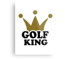 Golf King crown Metal Print