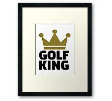 Golf King Framed Print