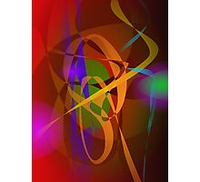 Luminous Brown Digital Abstract Art Photographic Print
