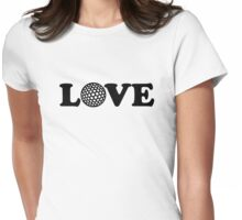 Golf Love Womens Fitted T-Shirt
