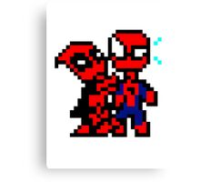 Dead & Spidey Canvas Print
