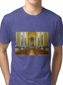 Inside the Santuario de Santa María Magdalena Tri-blend T-Shirt