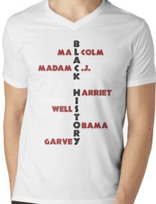 BLACK HISTORY  Mens V-Neck T-Shirt