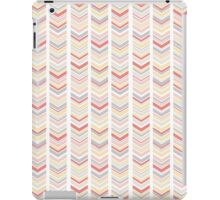 Pink, Buttercup and Gray Chevron iPad Case/Skin