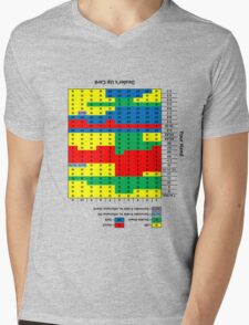 Wearable Blackjack Strategy Chart (upside down for your first-person viewing pleasure) Mens V-Neck T-Shirt