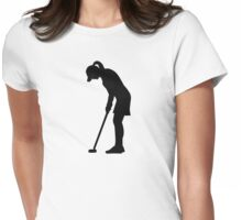 Golf woman Womens Fitted T-Shirt