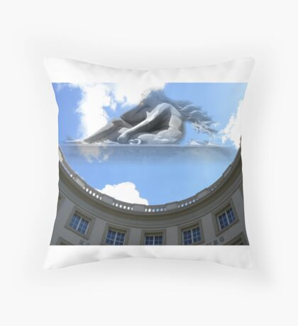 lady theater Throw Pillow