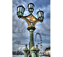 Westminster Lamps Photographic Print