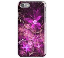 Purple Floral Pattern - Abstract Fractal Artwork iPhone Case/Skin