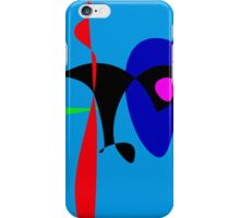 Abstract Expressionism Simple Digital Art iPhone Case/Skin