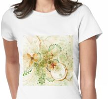 Light Floral Pattern - Abstract Fractal Artwork Womens Fitted T-Shirt