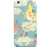 Fancy Rainbow Unicorns iPhone Case/Skin