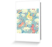 Fancy Rainbow Unicorns Greeting Card