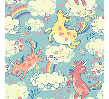 Fancy Rainbow Unicorns Photographic Print