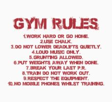 Gym rules by starsandguitars