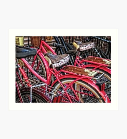 Twins - Bicycle Art By Sharon Cummings Art Print