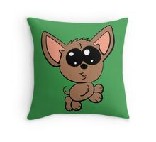 Chibi chihuahua Throw Pillow