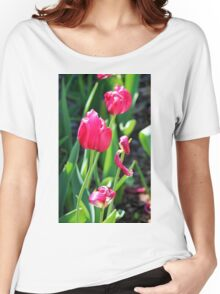 Tulip Field Women's Relaxed Fit T-Shirt