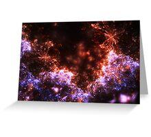 Fireworks - Abstract Fractal Artwork Greeting Card