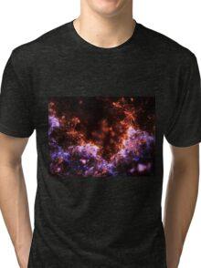 Fireworks - Abstract Fractal Artwork Tri-blend T-Shirt