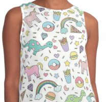 Dinosaurs and Unicorns Contrast Tank