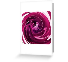 Raspberry swirl Greeting Card