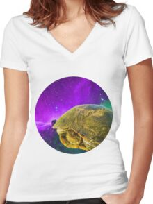 Far Out Women's Fitted V-Neck T-Shirt